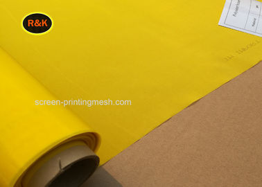 China 100% Polyester 110 Mesh , Silk Screen Fabric Mesh For Touch Printing supplier