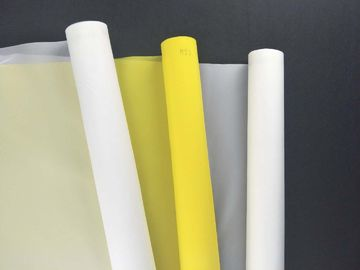 China White Color Nylon 300 Screen Printing Mesh Roll For CD / DVD Printing supplier