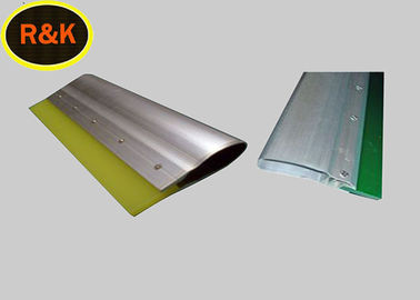 China Wood Handle White Screen Printing Squeegee Blades Wear Resistant 55A-90A Hardness supplier