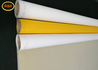 China 100% Polyester Yellow Screen Printing Mesh Roll Heat Resistance For Cermics Printing supplier