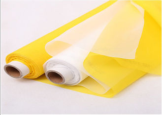 China 120T-34W Plain Weave Silk Screen Printing Wire Mesh Roll White/Yellow supplier