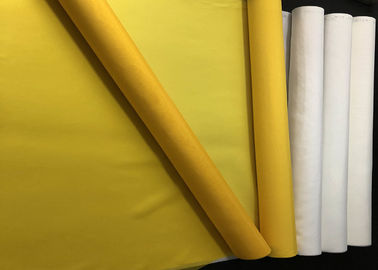 China 280 Mesh White Polyester Screen Printing Mesh Textile Screen Printing Low Elasticity supplier
