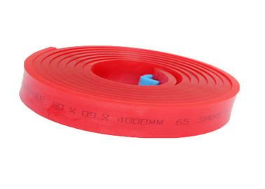 China Width 9cm Screen Printing Squeegee Blade Material Red Roll 75A 65A 80A supplier