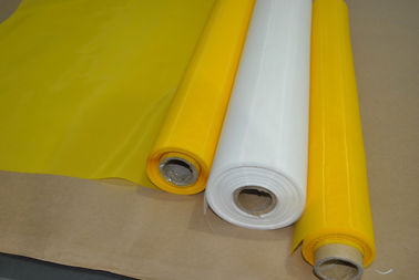 China White Mesh Screen Material Polyester Printing Screen 200 Mesh / Inch factory