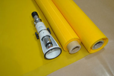 China Plain Weave Screen Printing On Polyester Fabric / 110 Monofilament Polyester Mesh factory