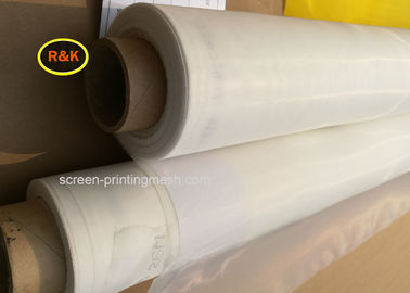 Plain Weave Screen Printing Mesh Material Silk Screen Mesh Roll White / Yellow Color