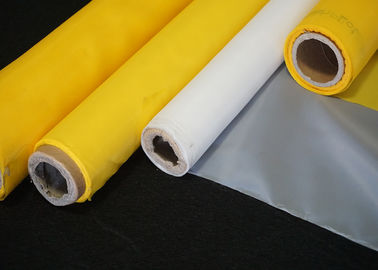 Plain Weave High Tension Polyester Wire Printing Mesh Screen Roll 43T-80Y White Color