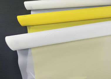 China High Elasticity White Plain Weave Screen 100 % Polyester Screen Printing 200 Mesh factory