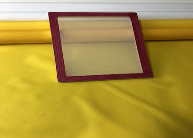 China Wooden / Aluminum Silk Screen Frames With Mesh Red Glue Customize Size factory