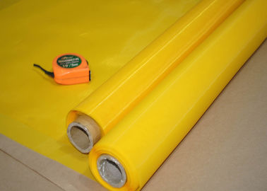 China 70T 80T 90T 200 Screen Printing Mesh Roll , Polyester Mesh Screen Acid Resistance factory
