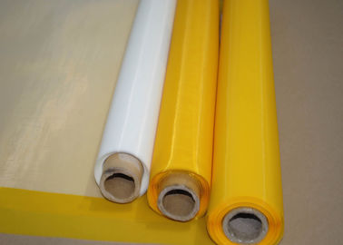 China White / Yellow Polyester Monofilament Screen Fabric Mesh For Textile Plain Weave Type factory