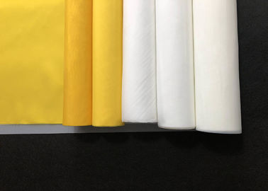 32t -100 Polyester Monofilament Silk Screen Printing Mesh Fabric Yellow White Color