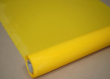 China Plain Weave Polyester Silk Screen , Polyester Monofilament Mesh For Shirts factory