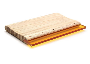 China Wooden Holder Screen Printing Rubber Squeegee Blade For T- Shirt Printing factory