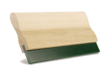 Customizable Polyurethane Squeegee With Wooden / Aluminium Handle For Screen Printing