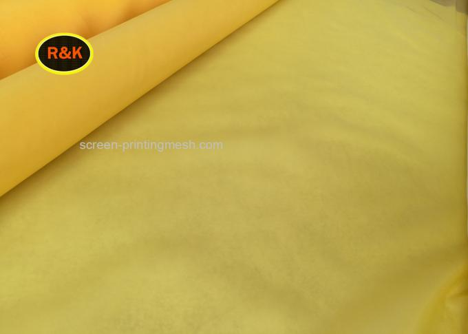 140T Plain Weave Monofilament Screen Printing Mesh White Yellow Color