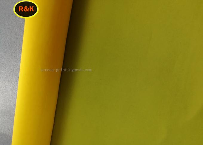 100% Polyester Yellow Screen Printing Mesh Roll Heat Resistance For Cermics Printing