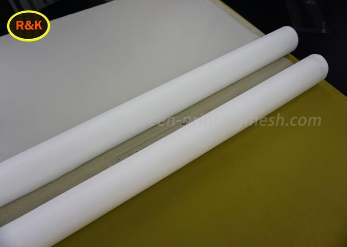 White Color Nylon Mesh Cloth 105CM Width Alga Filter 305 Mesh Count