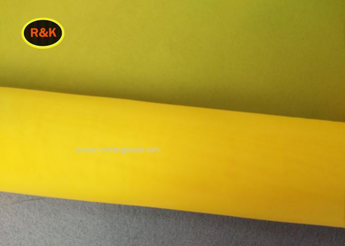 150 Micron Polyester Silk Screen Printing Mesh For Good sharpness And High Penetration