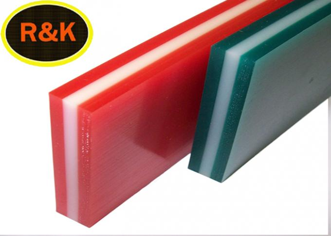 65A-90A-65A 3 Layer Silk Screen Printing Squeegee Rubber Transparent Color