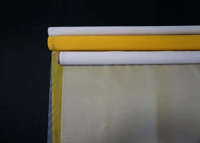 120 T Mesh 160 Mesh Silk Screen Printing Mesh Screens White Yellow Color